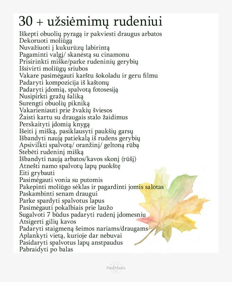 Pasitikime rudenį pozityviai