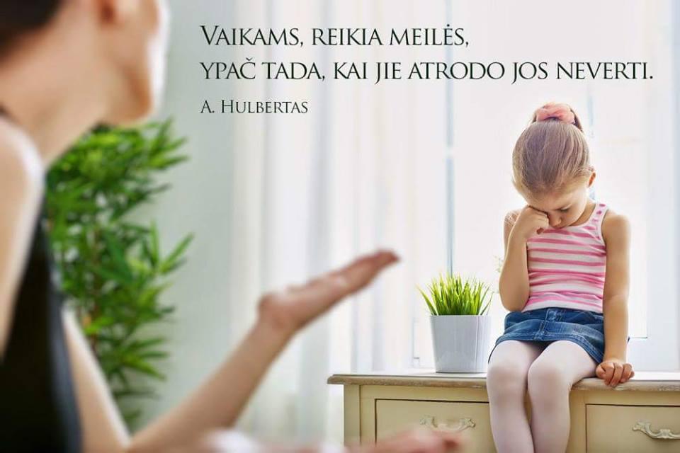 Vaikams reikia meilės