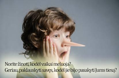 kodėl vaikai meluoja?