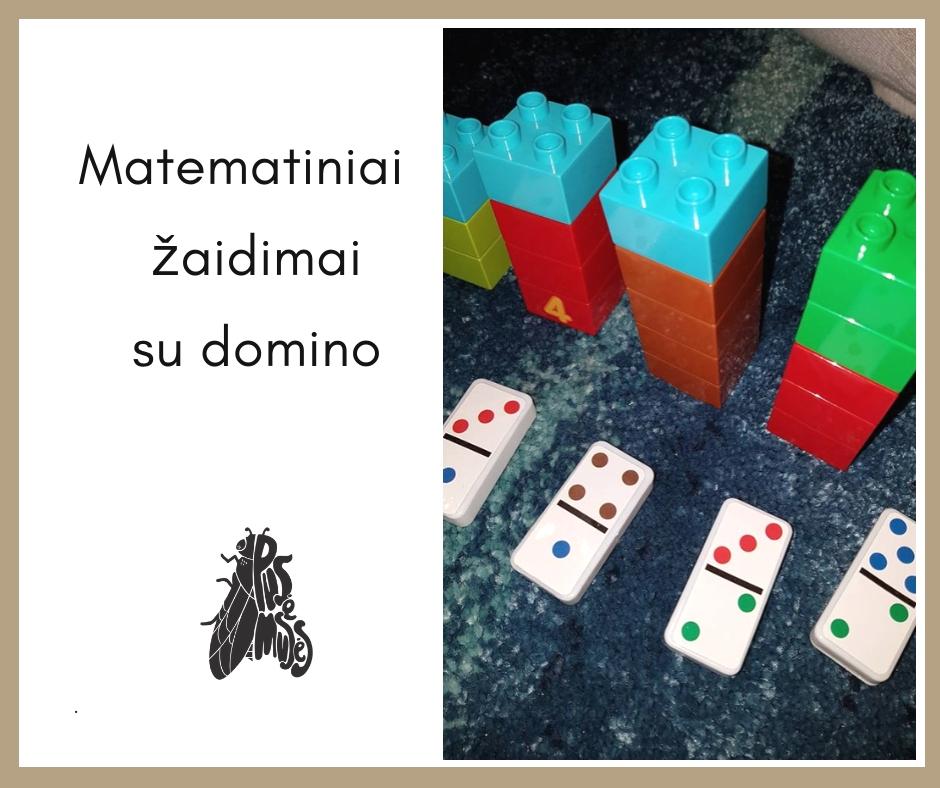 žaidimai su domino kaladėlėmis