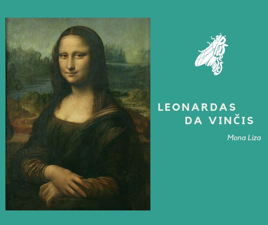 """Trečias paveikslas Leonardas da Vinčis """"Mona Liza"""""""